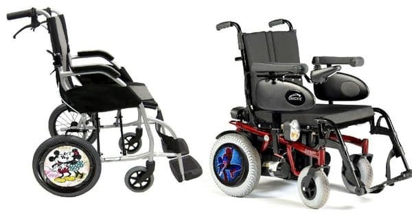 WHEELCHAIR & POWERCHAIR Personalised Spoke Guards MICKEY MINNIE Design
